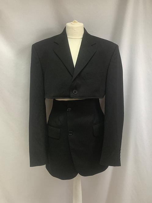 Reworked Yves Saint Laurent Black Skirt Set