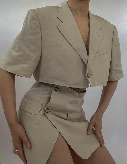 Reworked Lanvin Short Sleeve Skirt Set