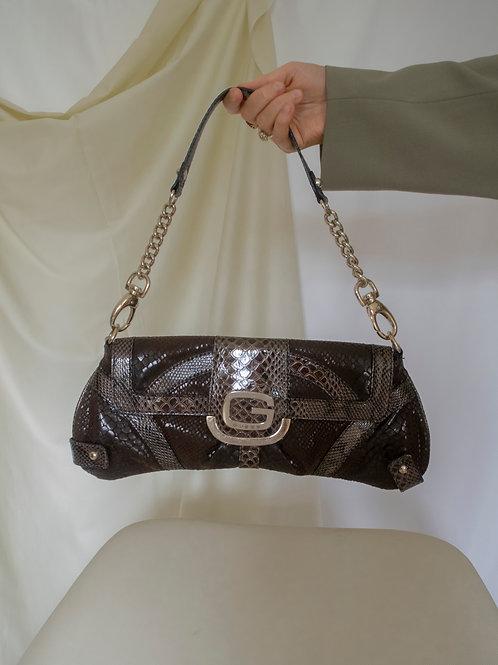 Vintage Guess Brown Snake Handbag