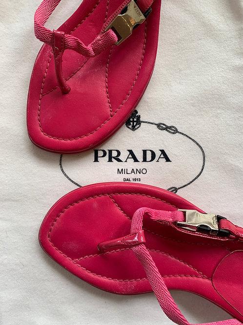 Pre-owned Prada Pink Flip Flops