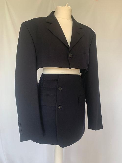 Reworked Yves Saint Laurent Midnight Skirt Set