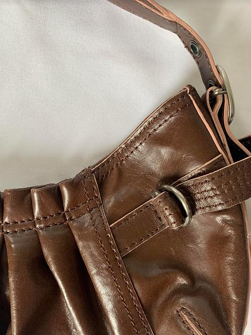 Vintage DKNY Brown Leather Mini Bag