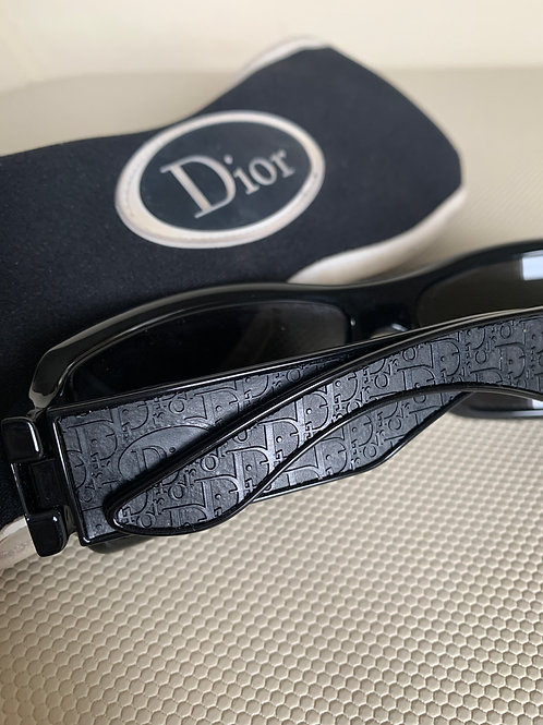Vintage Dior Monogram Black Sunglasses