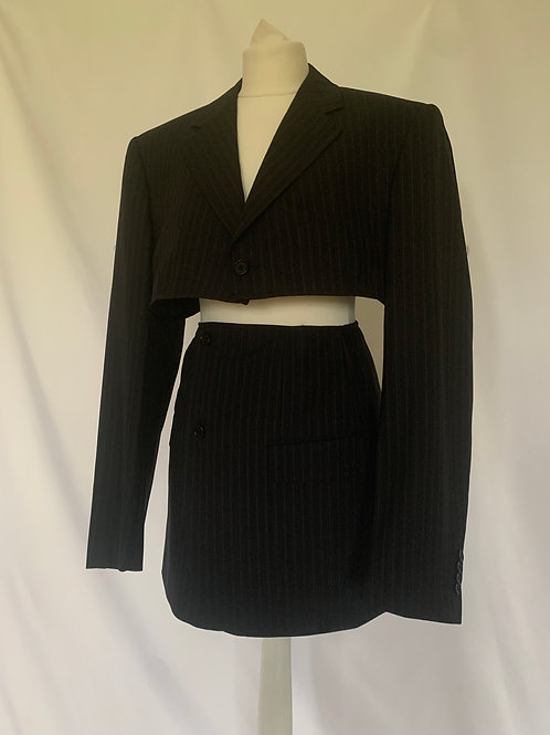 Reworked Alexander McQueen Pinstripe Skirt Set