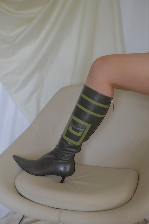 Anya Hindmarch Pre Owned Calf Boots