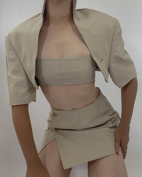 Reworked Bolero 3 Piece Skirt Set