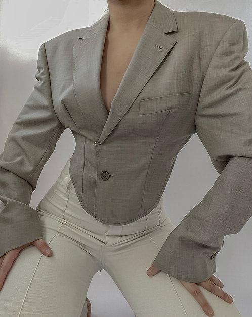 Reworked Balmain Backless Blazer