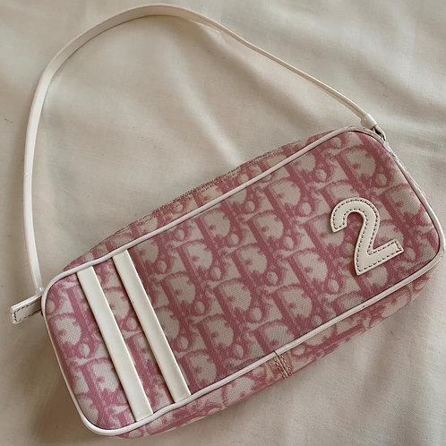 Vintage Dior Pink Monogram Mini Bag
