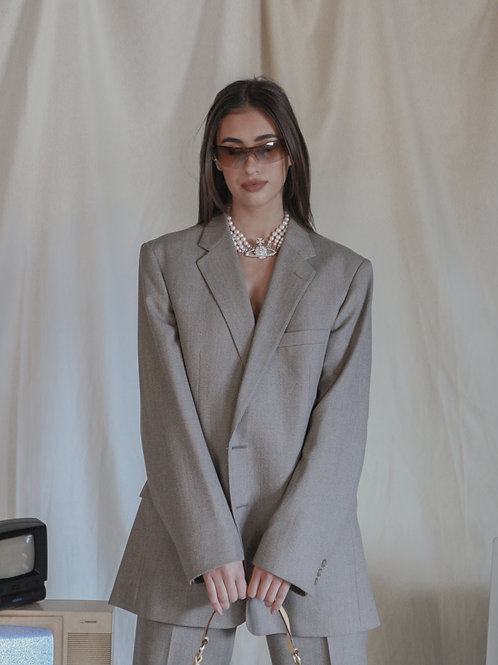 Reworked Christian Dior Light Taupe Suit