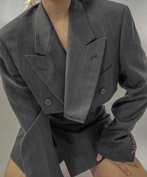 Reworked Valentino Pinstripe Skirt Set