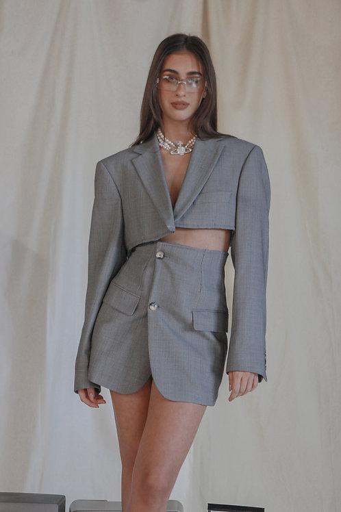 Reworked Hugo Boss Checked Skirt Set