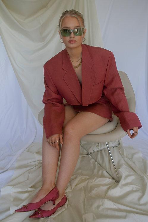 Reworked Yves Saint Laurent Pink Skirt Set