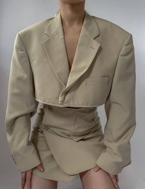 Reworked Beige Skirt Set