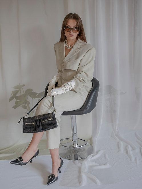 Reworked Yves Saint Laurent Cream 3 Piece Suit