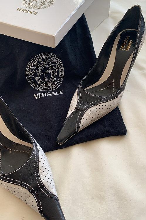 Vintage Versace Monochrome Heels