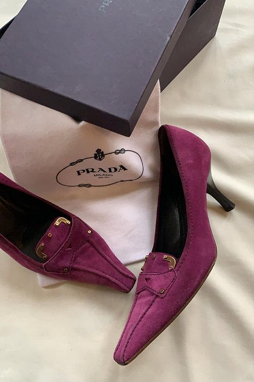Vintage Prada Purple Heels