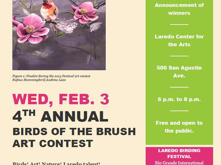 February Exhibits: 4th Annual Birds of the Brush Contest