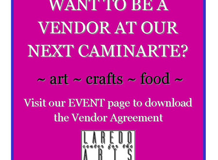 Want to be a vendor at our next CaminArte?
