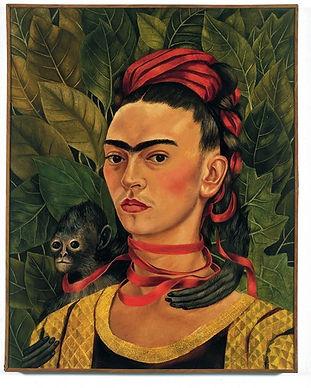 frida kahlo self-portrait with monkey 19