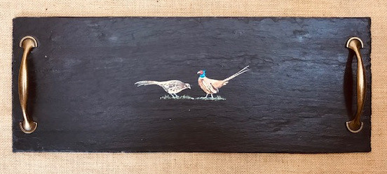 Medium cheeseboard - pheasants
