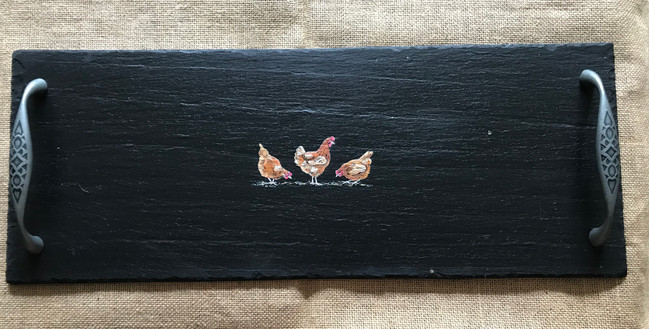 Medium cheeseboard - chickensage