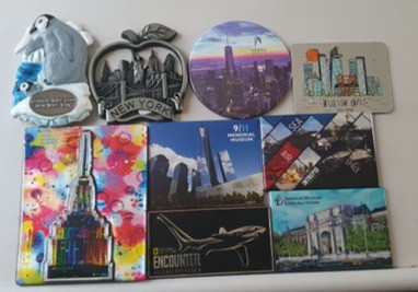 All the magnets that I collected on my trip to New York
