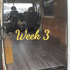 Week 3 of the campervan conversion
