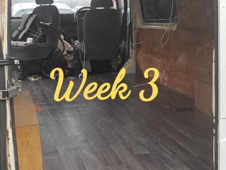 Week 3 of the campervan conversion