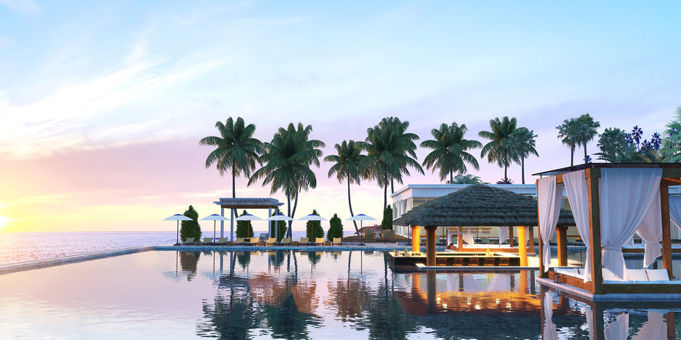FLC sunset poolbar