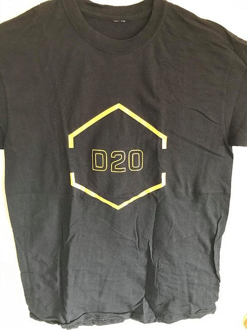 D20 Black&Yellow Crit Shirt