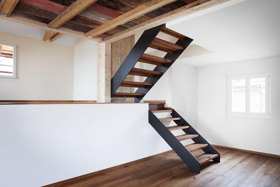 Eggbühl-Treppe-EG-OG Gottardi Architekt