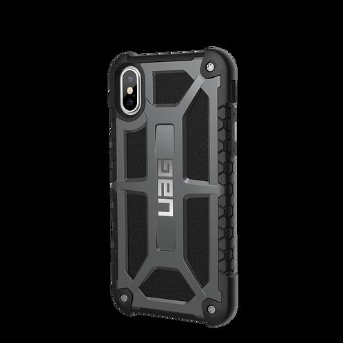 UAG iPhone X Monarch Case - Graphite Silver