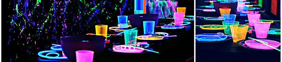 Glow-in-the-dark Party Theme