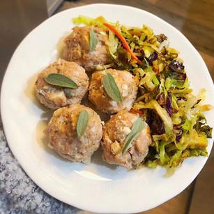 Sage Apple Chicken Meatballs