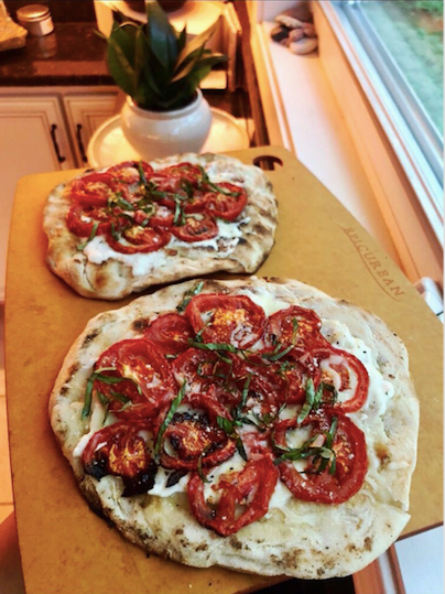 Roasted Tomato and Truffle Ricotta Grilled Pizza