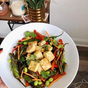 Tofu and Shishito Pepper Stir Fry