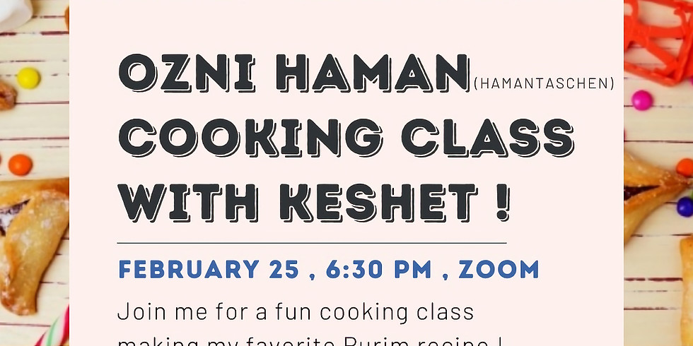 Ozni Haman Cooking Class with Keshet