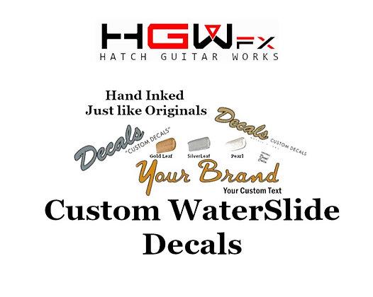 Custom Waterslide Decals
