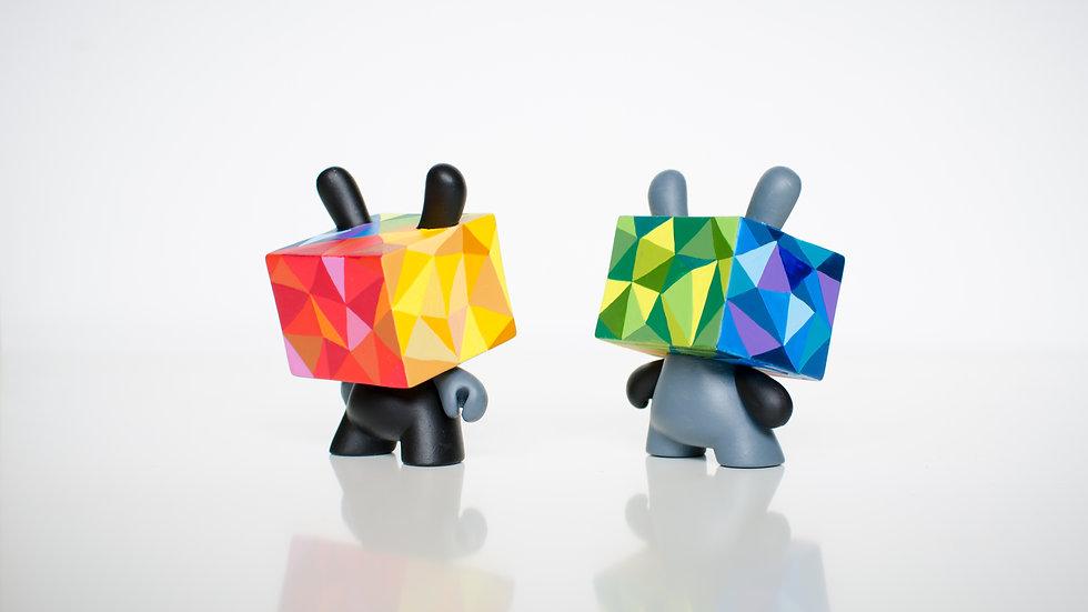"Color Cube - 3"" Kidrobot Custom dunny"