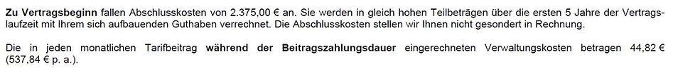 Produktinformationsblatt AachenMünchener Rentenversicherung