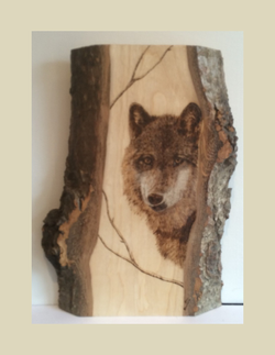 Wolf in the Trees - Sold