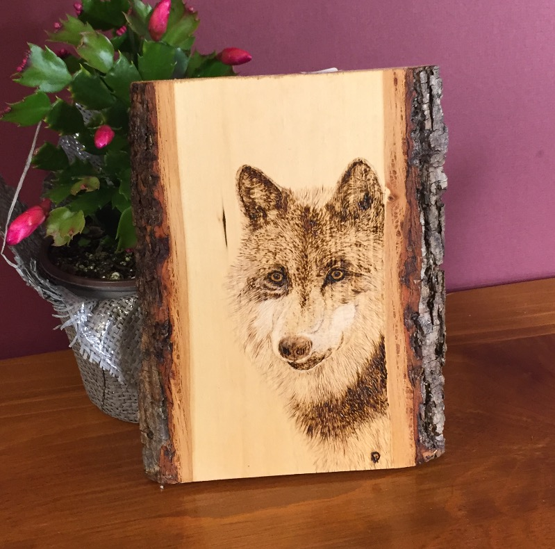Wolf Amber Eyes - Sold