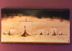 Viking Ships at Sea