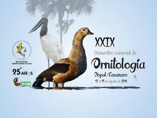XXIX Encuentro Nacional de Ornitología