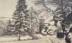 Die Mühle als Postkartenmotiv