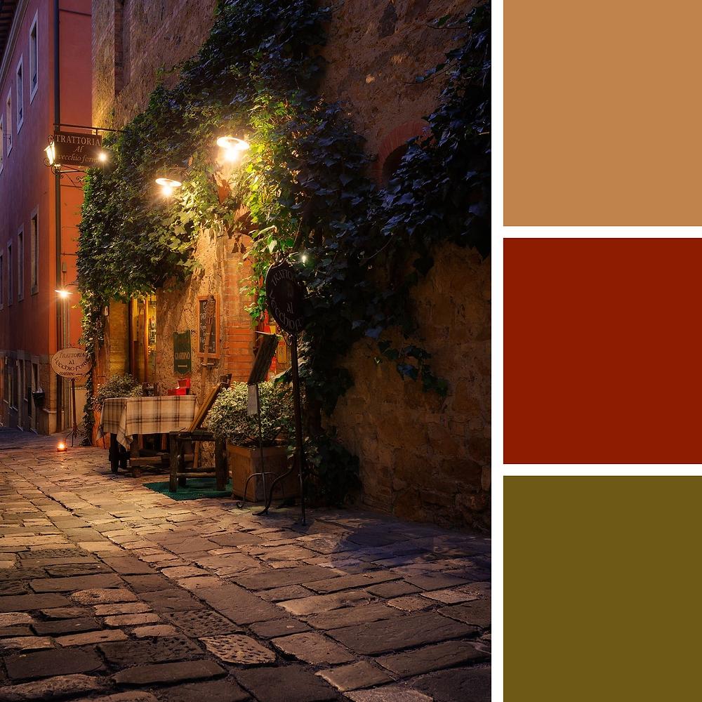 Tuscany Wedding Theme Colors
