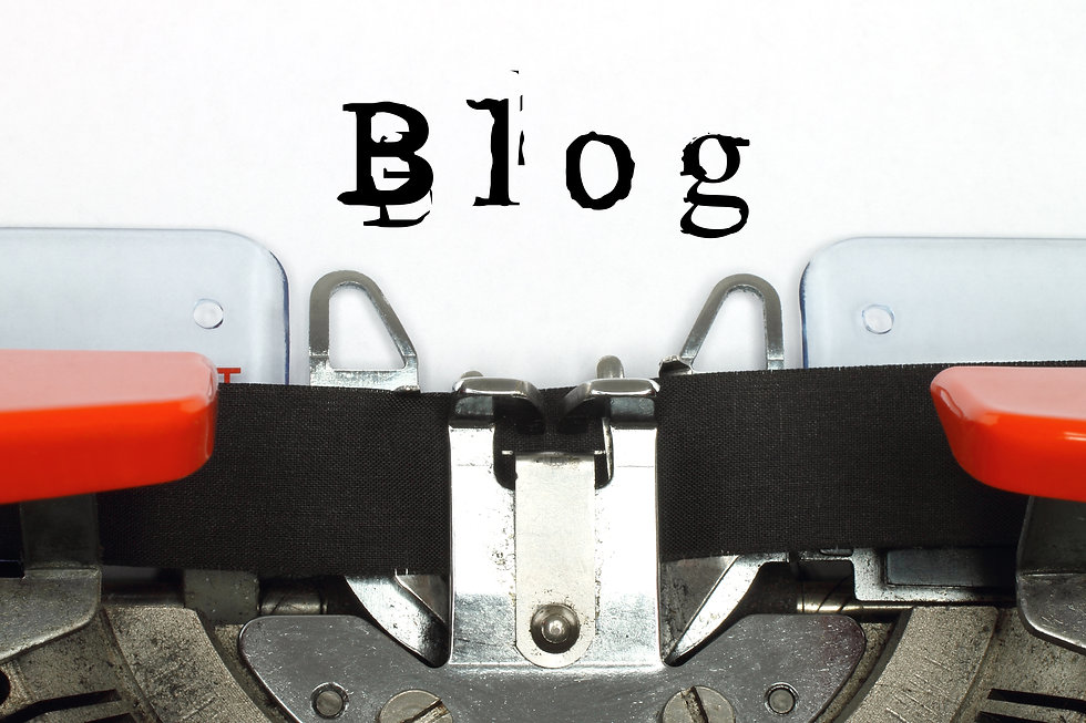 Part of typing machine with typed blog w