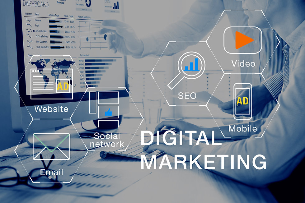 Concept of digital marketing media (webs