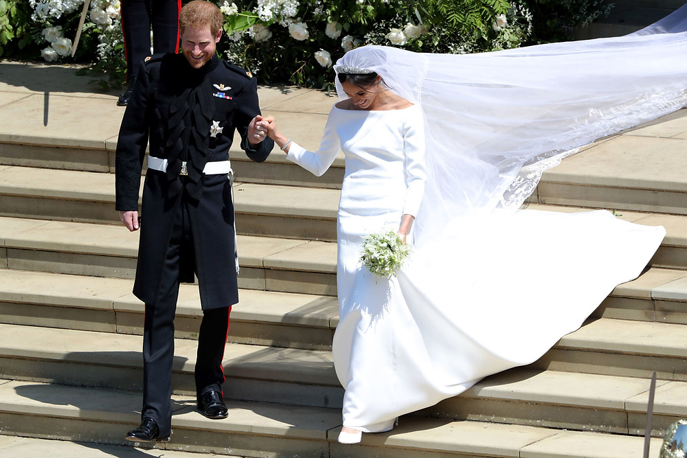 Prince Harry and Meghan Markle A-Line Wedding Dresses