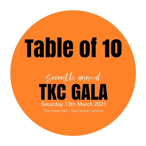 2021 TKC GALA TABLE OF 10